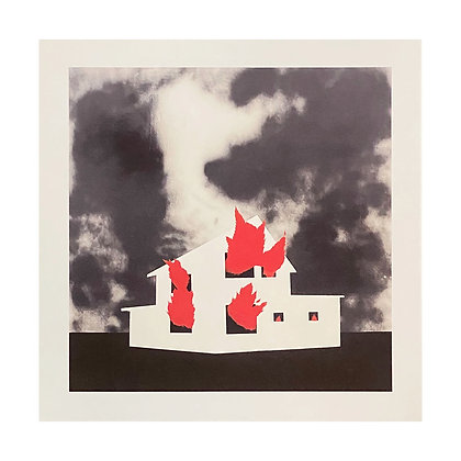 """Until The House Burns Down"" 12x12 Inch Print"