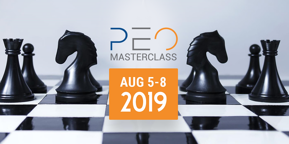 MasterClass - PEO Sales Program - August