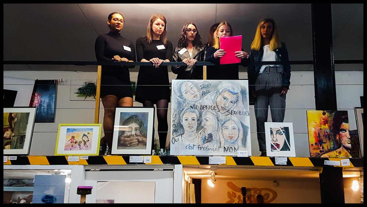 Voici les organisatrices de l'événement au profit de l'association SOS Inceste et Violences sexuelles. Ces jeunes filles sont élèves en BTS au Lycée Saint Pierre de Tarbes.