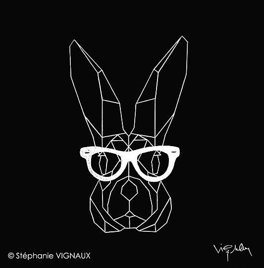 Show lapin, acrylique chome surtoile de lin. 60 x 60 cm. © Stephanie VIGNAUX, artiste peintre, Tarbes, Occitanie