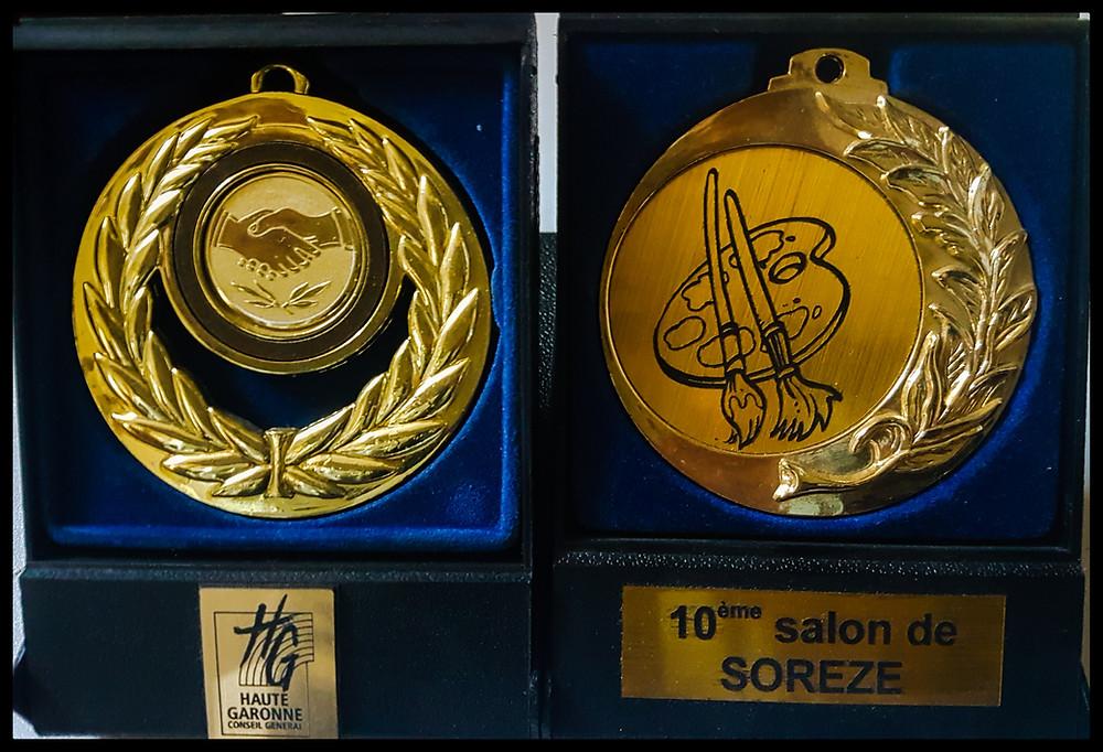 Médailles reçues pour le travail de Stéphanie VIGNAUX