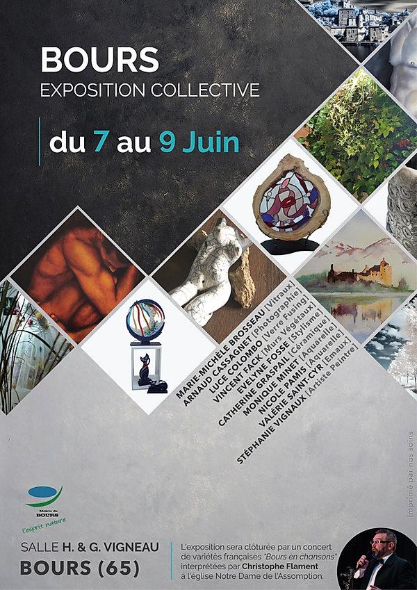 Affiche Expoition collective - BOURS (65)