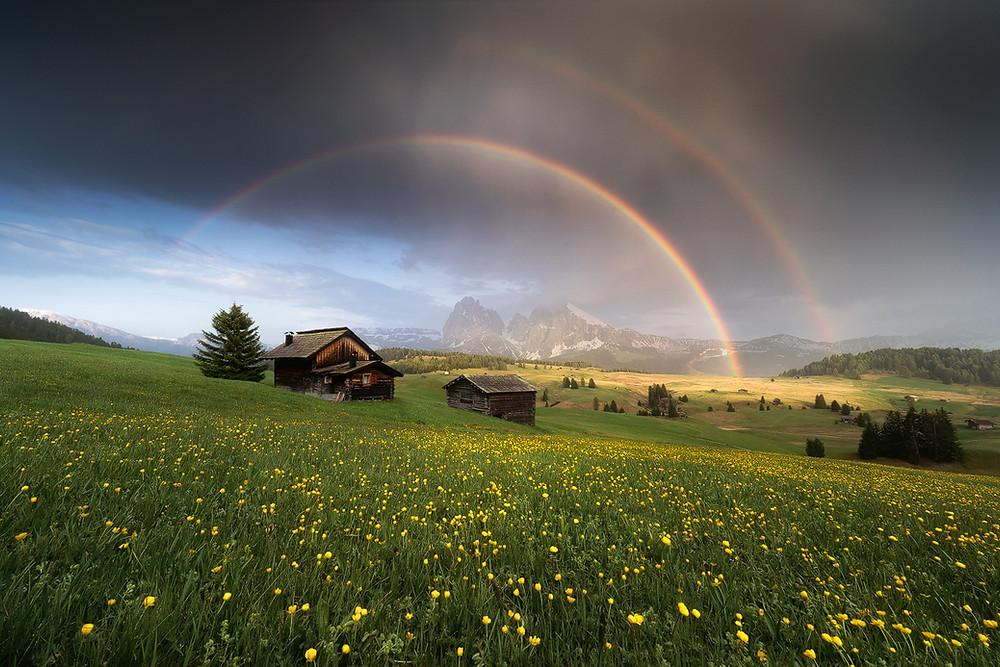 alpe di siusi rainbow