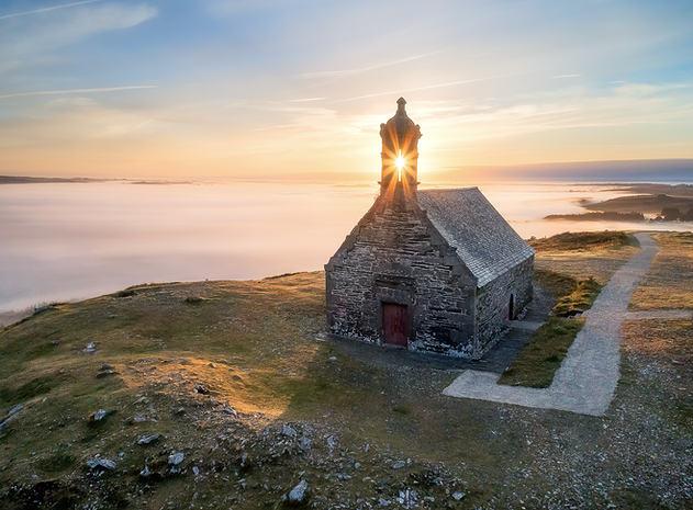 Lever de soleil Mont Saint Michel de Bra
