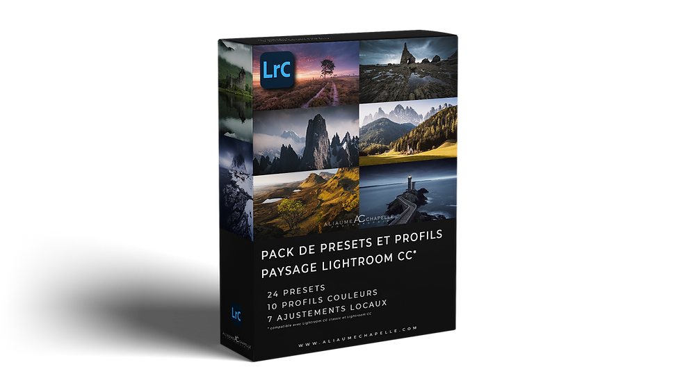 Preset pack for landscape Lightroom Classic
