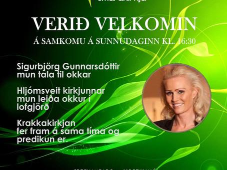 Guðsþjónustan okkar 11. apríl kl. 16:30 fer fram fyrir luktum dyrum, en við hittumst við skjáinn.