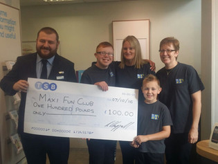 Maxi Fun Club chosen as TSB's (The Weir, Hessle) Local Charity Partner.