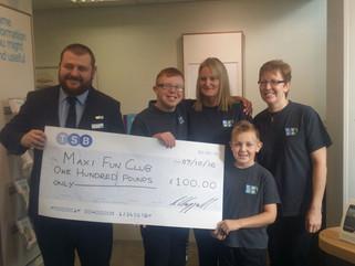 Maxi Fun Club chosen as TSB's (The Weir, Hessle) Local Charity Partner.