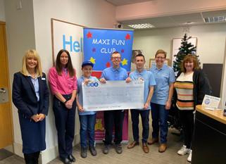 TSB The Weir Hessle raise £962.25 for Maxi Fun Club