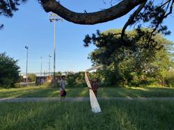 Community canvas hanging attempts