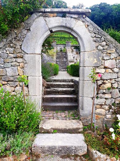 Entrée des jardins en terrasse