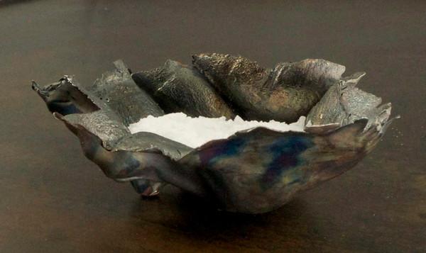 Saltskål i silver