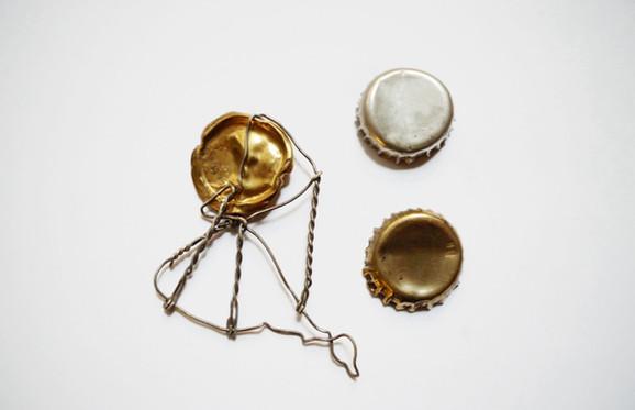 Kopior av skräp i guld & silver