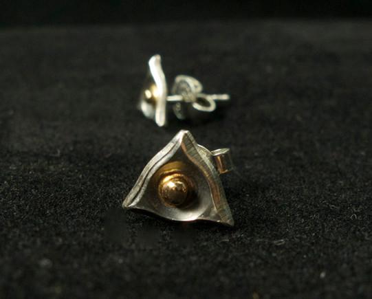 Örhängen i silver & guld