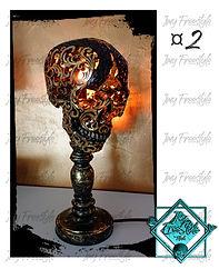 LAMPE SKULL OR