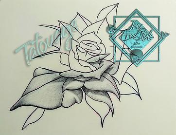 Rose sur skin
