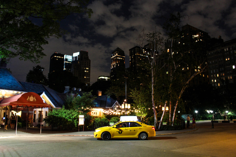 Un taxi au coeur de Central Park