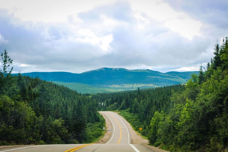 Sur la route du Quebec