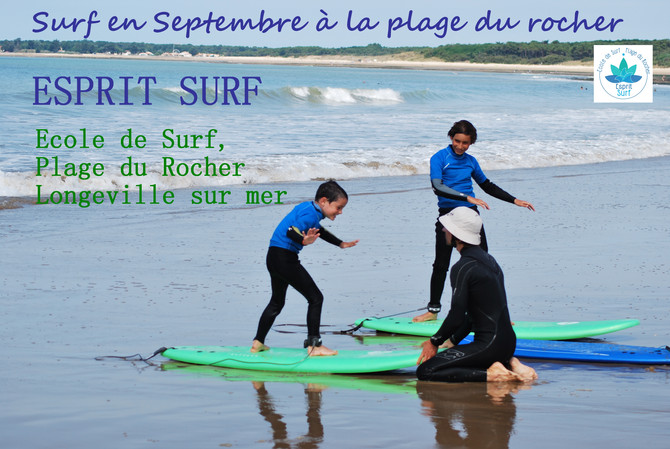 Surf sur la Plage du Rocher - Septembre