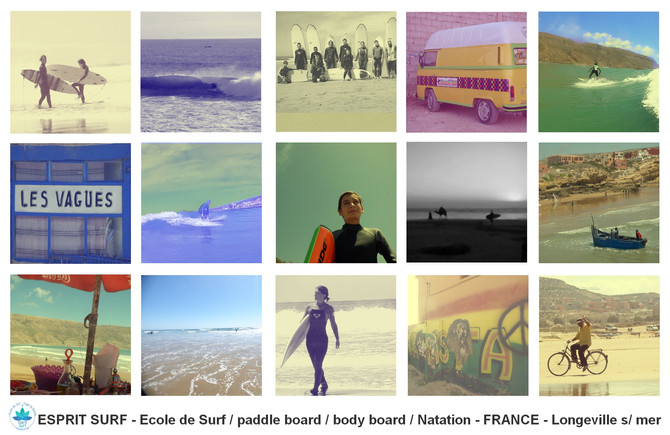 Polaroids surf photography by ESPRIT SURF ® Trip Surf &Yoga Maroc 2016