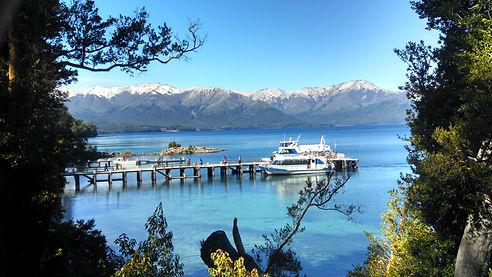 Vista espectacular do Lago Nahuel Huapi.