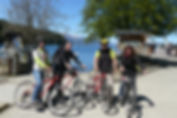 Trilha de bike na penísula de Quetrihue.