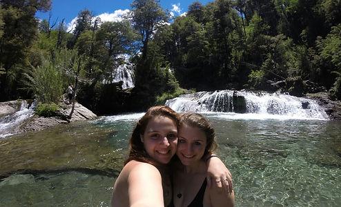 Curtindo às cachoeiras Ñivinco.