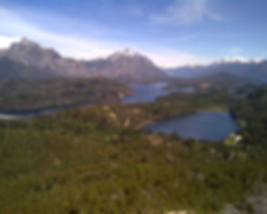 Vista panorâmica do Cerro Campanario, Bariloche.