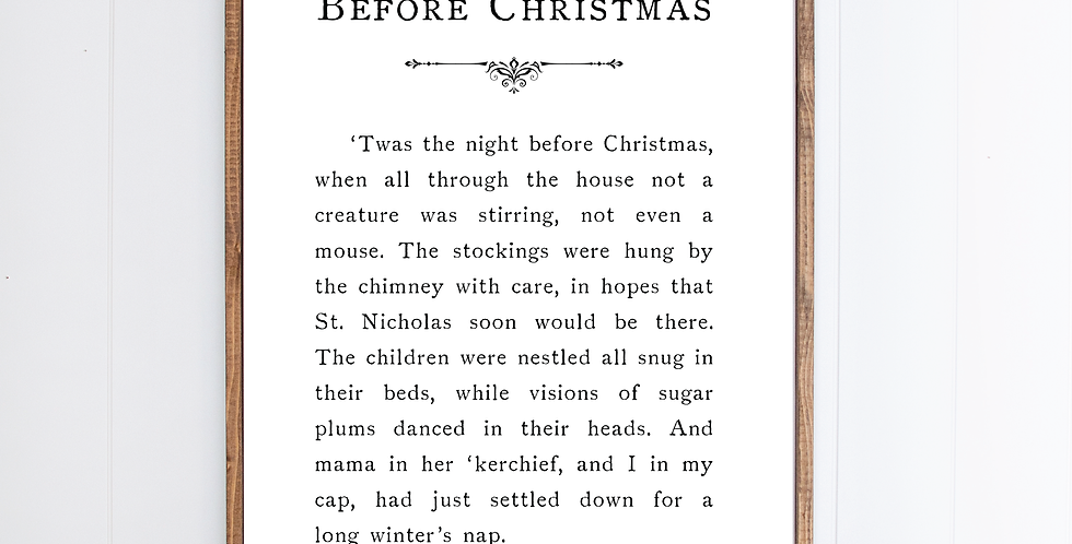Twas the Night Before Christmas {Large}