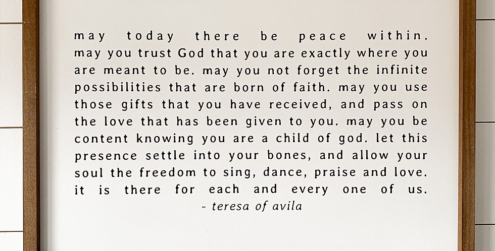 May Today There Be Peace Within