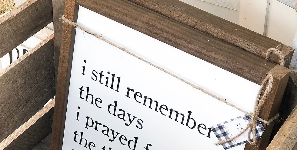 I Still Remember the Days