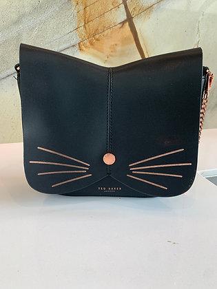 Ted Baker Kitty Cat Crossbody Black & Rose Gold Bag