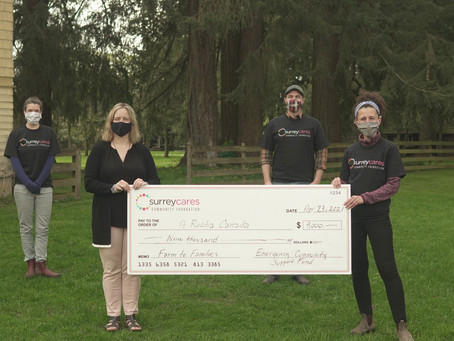 SurreyCares grants $9,000 to A Rocha Canada to Provide Healthy Meals for Surrey Seniors & Newcomers.