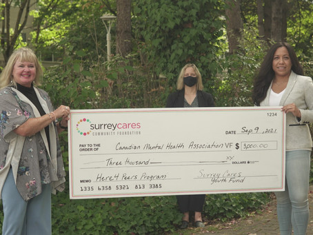 CMHA-VF Receives a $3,000 Youth Grant  to Launch a Youth Mental Health Literacy Program in Surrey.