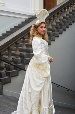1700's Wedding Dress for Gretna Green Historical Wedding Exhibition Dress.