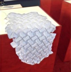 Close up of paper mould created for thermal pleating 'Pliqua Ex Pliqua' Workshop at Prague Quadrenni
