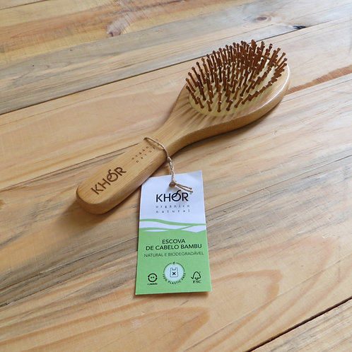 Escova de cabelo de bambu KHOR
