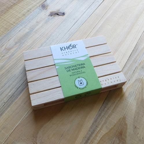 Saboneteira de madeira KHOR