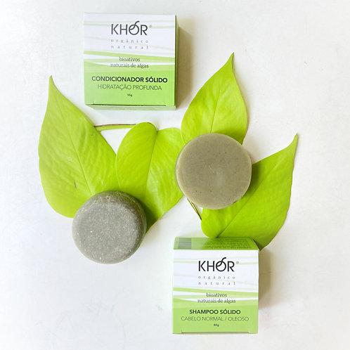 Kit Shampoo + Condicionador Sólidos