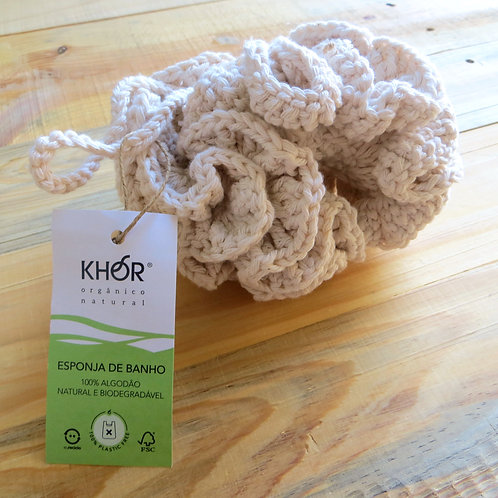 Esponja de banho de crochet KHOR