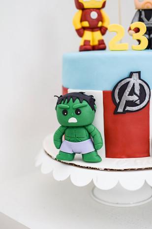 marvel-themed cake topper