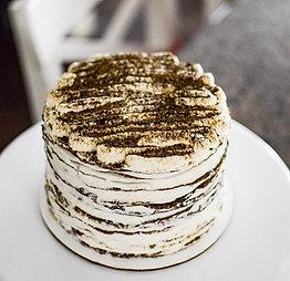 Hojicha Crepe Cake