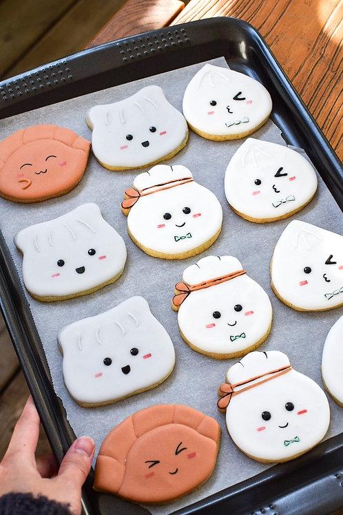 Cute Dumpling Sugar Cookie Set
