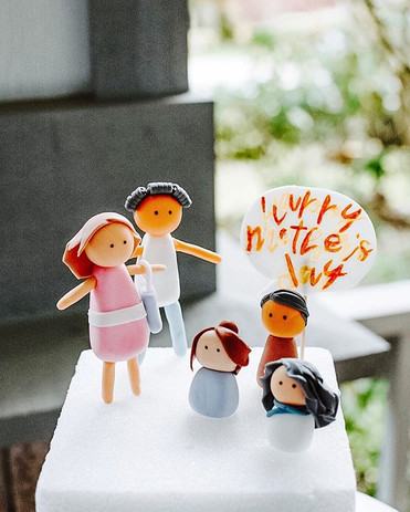 Family Cake Topper for Mother's Day