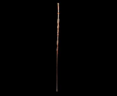 Hand Carved Folk Art Walking Stick Cane Snake 19th Century Victorian