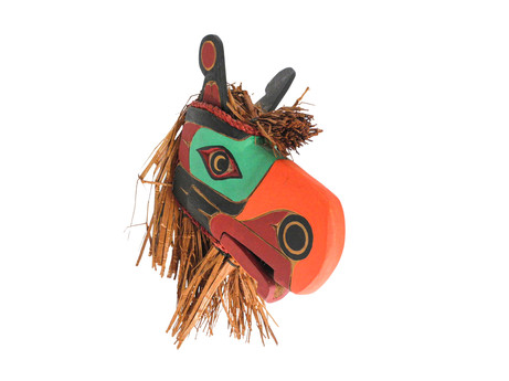 A Kwakwaka'wakw Thunderbird Mask Carved by Sam Shaugnessy C. 21st Century.  Item: 125