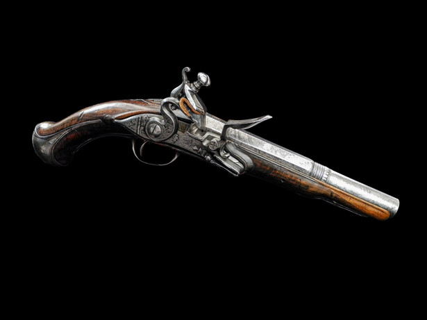 A Spanish 18-Bore Miguelet Pistol Deop Ripoll Circa 1790.
