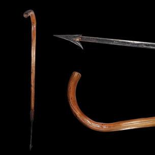 A Salmon Poaching Walking Stick C. 19th Century.