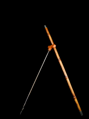 A Customs Officers Walking Stick with Auger Circa. 20th Century.  Item: 142