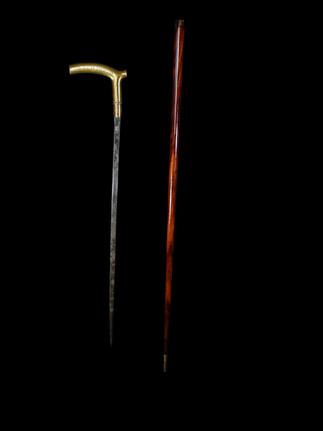A Brass Sword Stick C. 20th CENTURY.  Item: 148